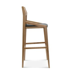 Drevená moderná barová stolička SRBST-1403 Arcos