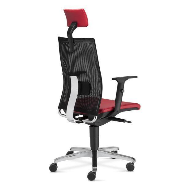 červená kancelárska stolička NS-Intrata