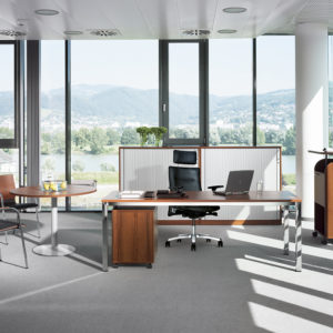 kancelársky stôl s kovovými nohami NS-Easy Space