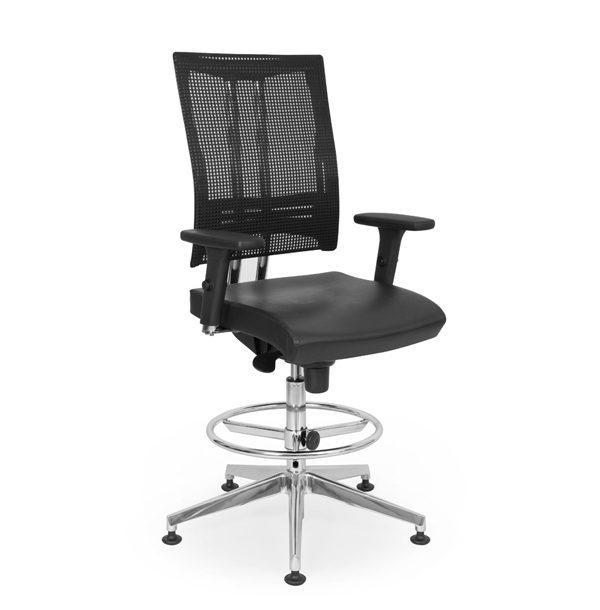 čierna kancelárska stolička NS-@-motion
