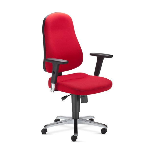 červená kancelárska stolička NS-Bizzi
