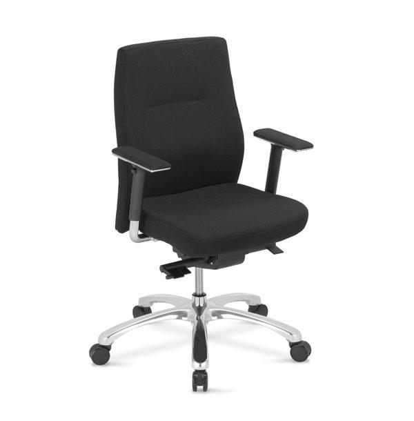 čierna kancelárska stolička NS-Orlando