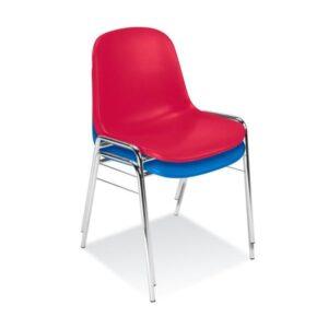 stolička NS-BETA-červená a modrá