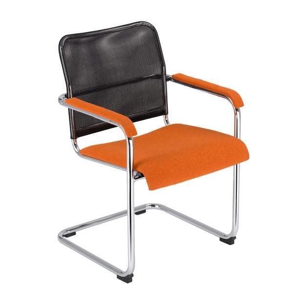 Rokovacia stolička NS-Rumba-čierno oranžová