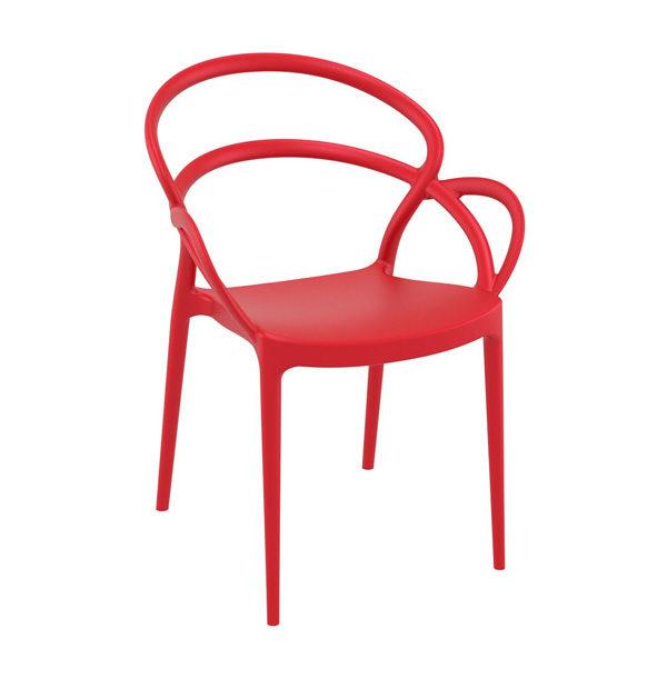 červená stolička SI-MILA