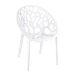 Exteriérová stolička SI-CRYSTAL otočená spredu