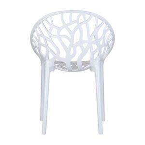 biela stolička SI-CRYSTAL