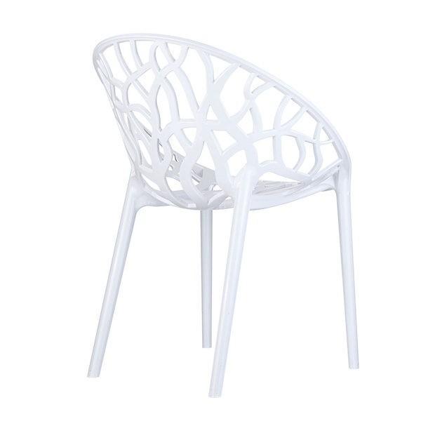 Exteriérová stolička SI-CRYSTAL otočená zozadu