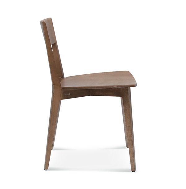 Jedálenská stolička SRA-0620 Fame s nečalúneným sedadlom
