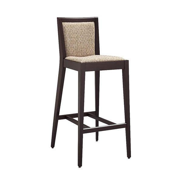 Drevená barová stolička CI-Blios 180 SG s čalúneným sedadlom a operadlom