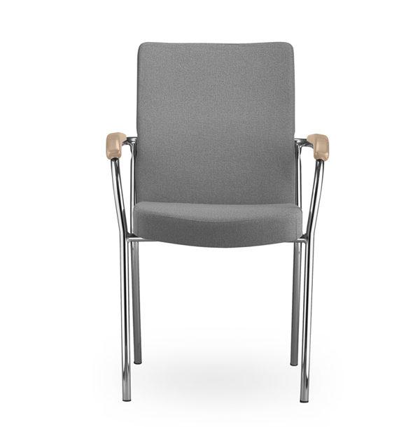 Sivá rokovacia stolička NS Loco II otočená spredu.
