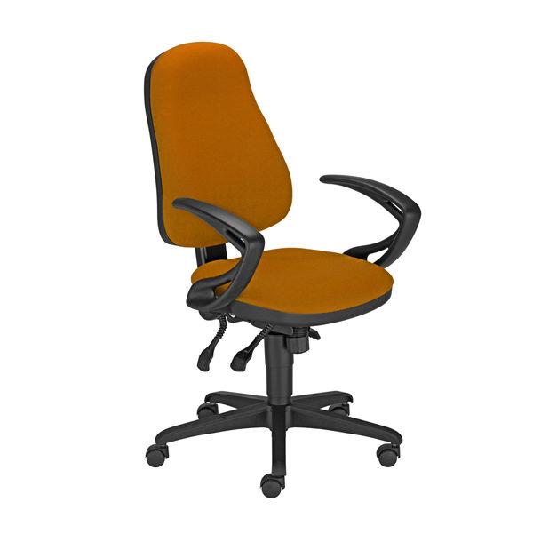 oranžová kancelárska stolička NS-Offix