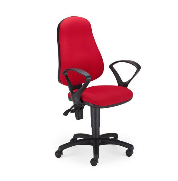 červená kancelárska stolička NS-Punkt