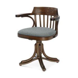 Drevená buková stolička s podrúčkami SRB-9451 na otočnej podnoži