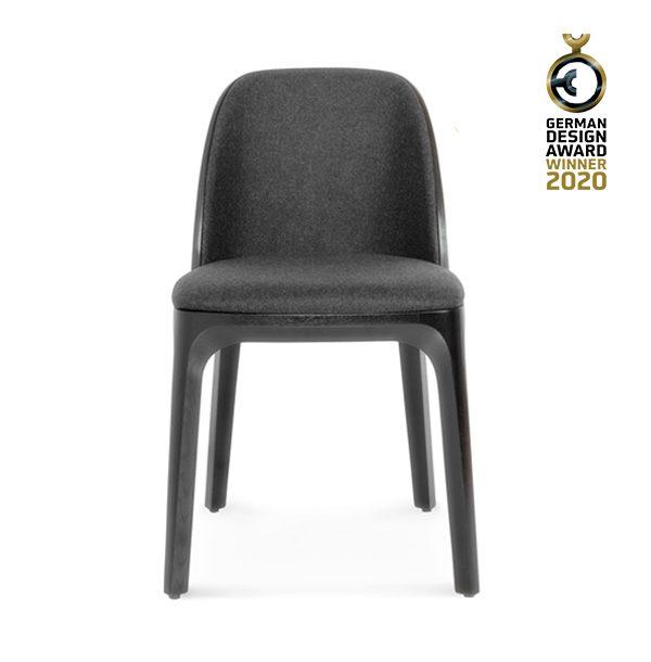 Drevená čalúnená jedálenská stolička SRA-1801 Arch