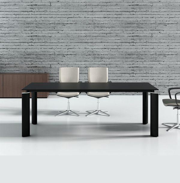 Čierny rokovací stôl MD-Crystal AE11