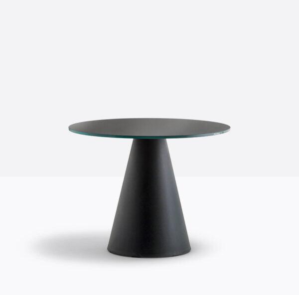 Čierna stolová noha PE-Ikon 863