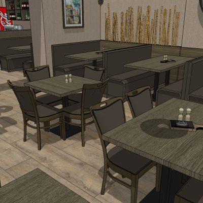 drevex-návrh interiéru reštaurácie Majer