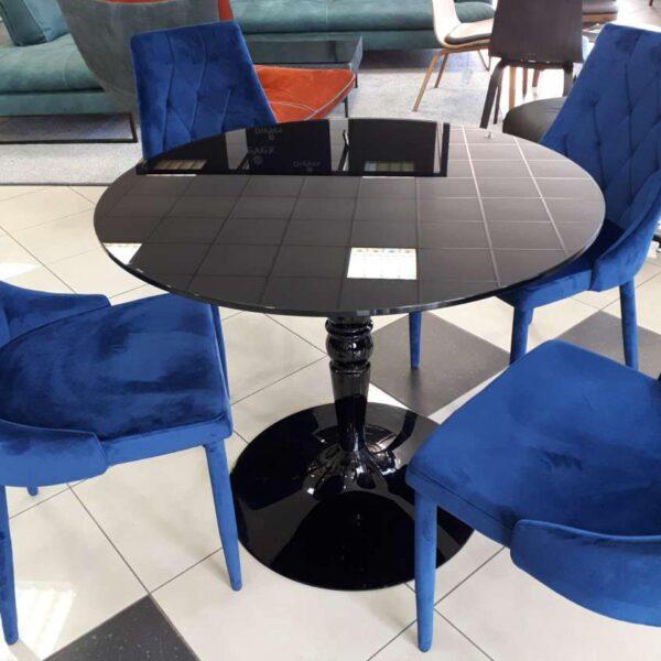 čierny sklenený stôl CAL-Florence
