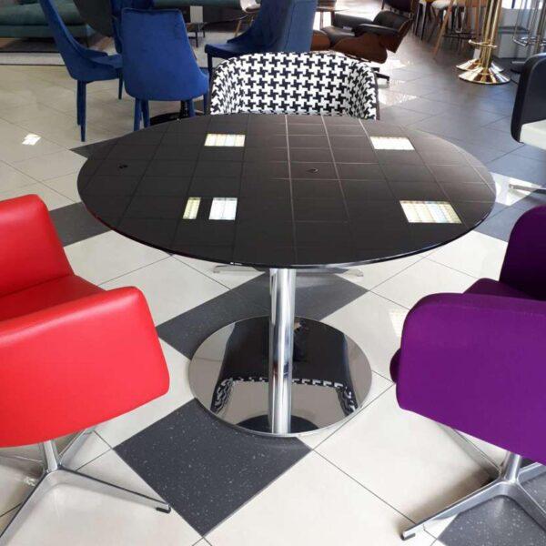 Sklenený stôl SUST-Moon