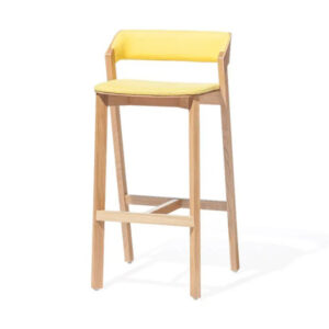 Drevená čalúnená barová stolička STBST-Merano