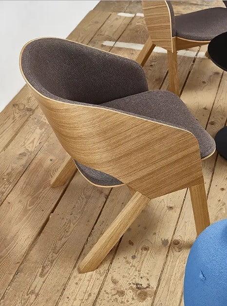 Dizajnové drevené lounge kreslo STB-Merano