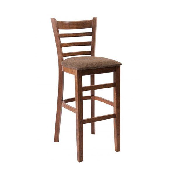 Drevená barová stolička SPBST s čalúneným sedadlom-3132