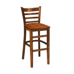 Drevená barová stolička SPBST-3132 bez čalúneného sedadla
