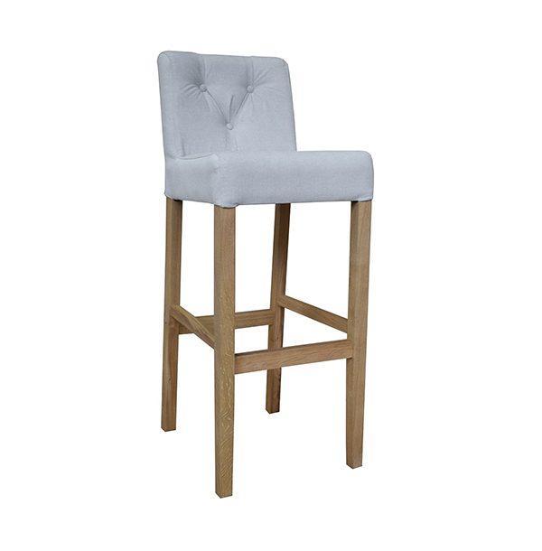 Barová stolička SPBST-3750 s drevenými nohami