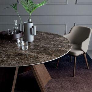 Okrúhly jedálenský stôl CAL-Icaro 4113RD