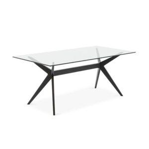Jedálenský stôl CAL-Kent 1405RCs drevenými nohami