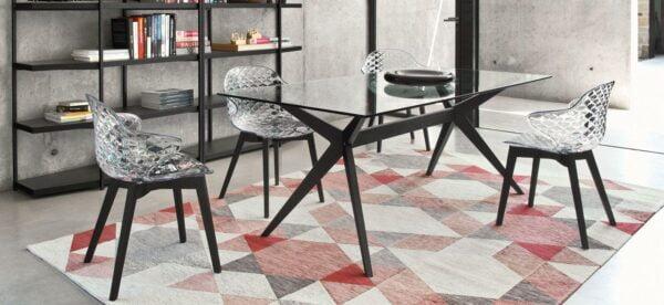 Stôl CAL-Kent 1405RC s drevenými nohami