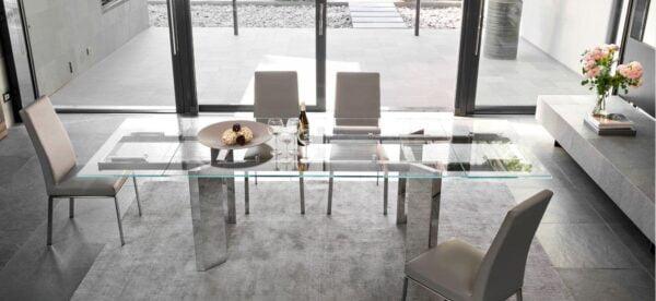 Rozkladací jedálenský stôl CAL-Tower 4057