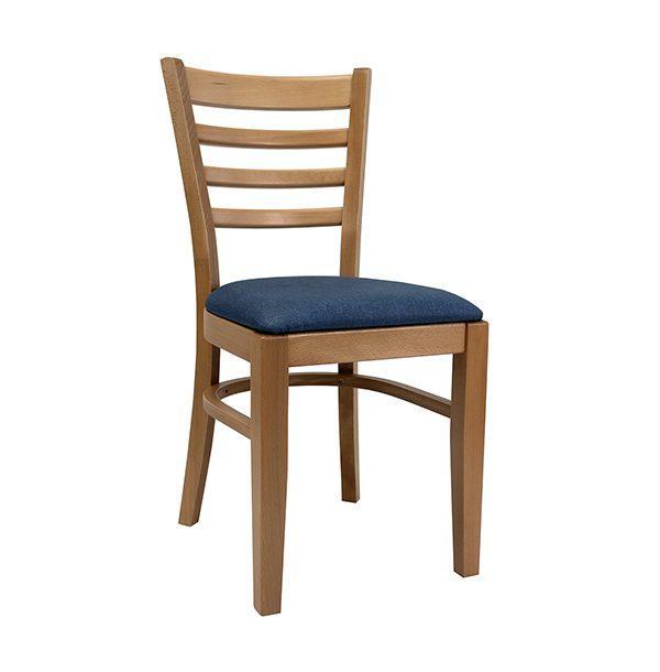Drevená stolička SPA-3132 s čalúneným sedadlom