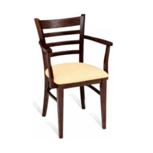 Drevená stolička SPA-3132 s podrúčkami