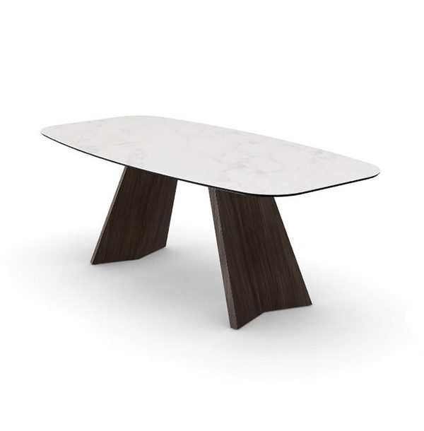 Jedálenský stôl CAL-Icaro 4115 s oblou stolovou doskou