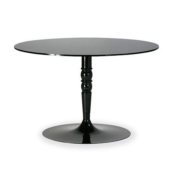 Sklenený okrúhly jedálenský stôl CAL-Florence