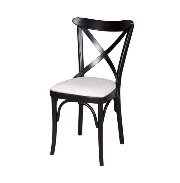 Drevená stolička s čalúneným sedákom ELA-1327S
