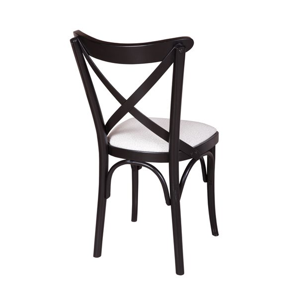 Drevená buková stolička ELA-1327S otočená zozadu