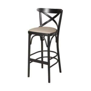 Drevená barová stolička ELBST-1327B