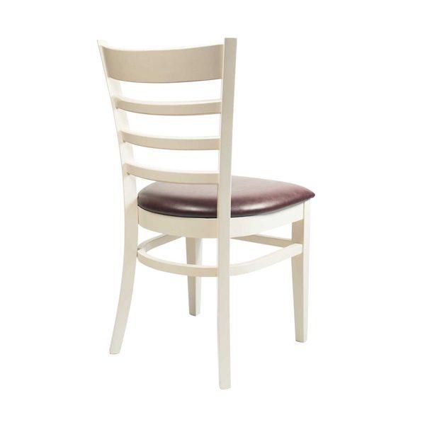 Biela drevená stolička ELA-1305S