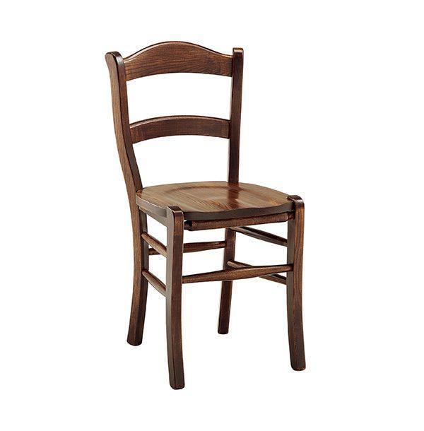 Klasická drevená jedálenská stolička CI-380