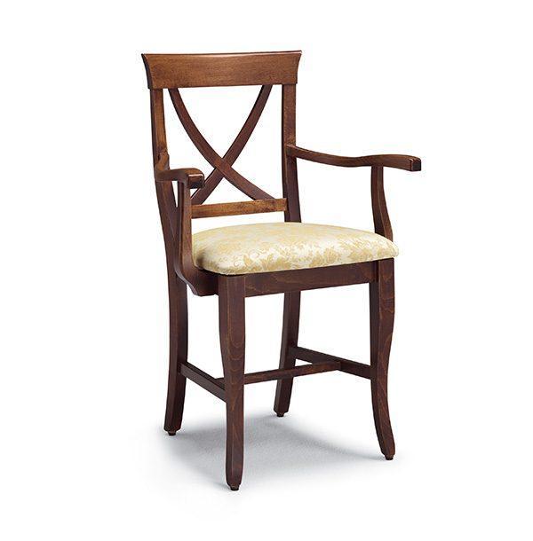 Klasická drevená jedálenská stolička s podrúčkami CI-574P