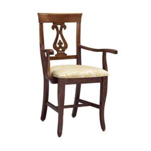Klasická drevená jedálenská stolička s podrúčkami CI-620P
