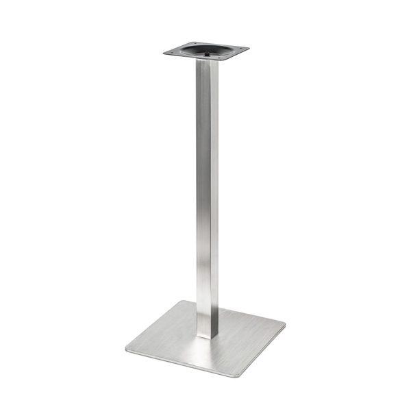 Barová stolová noha PS-E05101 z nehrdzavejúcej ocele so štvorcovou podstavou