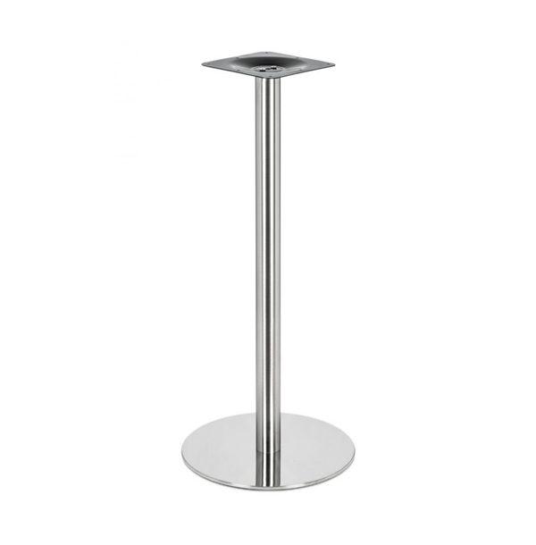 Barová stolová noha PS-E05101 z nehrdzavejúcej ocele s kruhovou podstavou