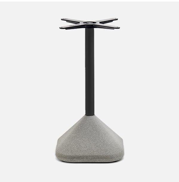 Čierna stolová noha PE-Concrete s betónovou bázou