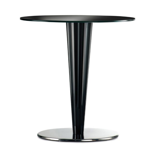 Stolová noha PE-Krystal ukážka so stolovou doskou čierna