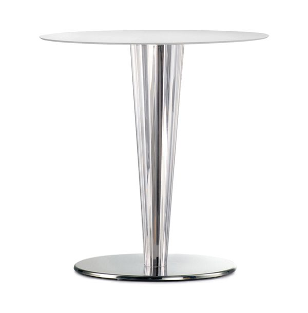 Stolová noha PE-Krystal ukážka so stolovou doskou