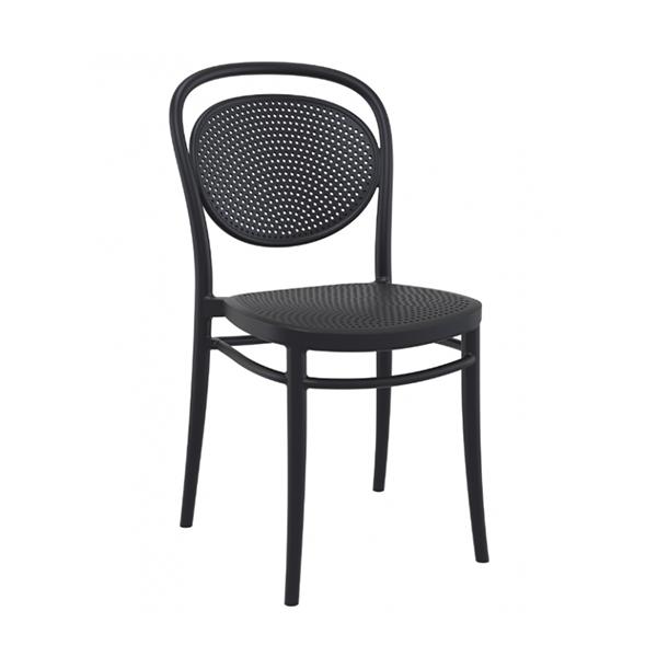 Stolička SI-Cross je vyrobená z polypropylénu vystuženého sklenenými vláknami, za pomoci najmodernejšej technológie tvarovania vzduchom. Vhodná do exteriéru